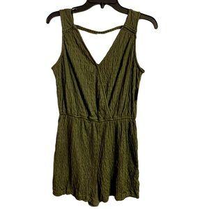Universal Thread Olive Green Knit Stretch Romper